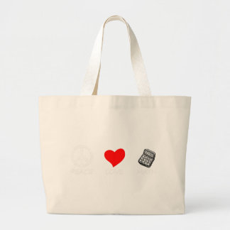 peace love6 large tote bag
