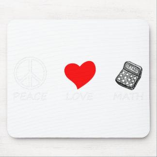 peace love6 mouse pad