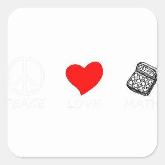 peace love6 square sticker