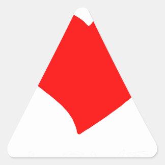peace love6 triangle sticker