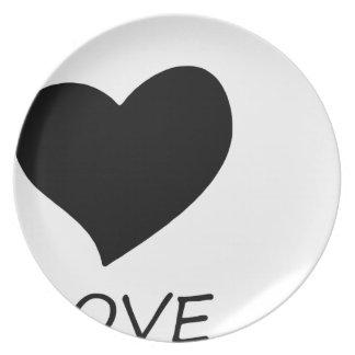 peace love8 plate