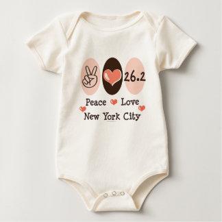 Peace Love  26.2 Baby Bodysuit