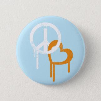 Peace & Love 2 Inch Round Button