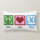 Peace Love 30 Lumbar Pillow