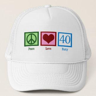 Peace Love 40 Trucker Hat