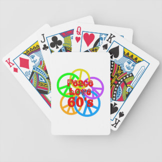 Peace Love 60s Bicycle Playing Cards