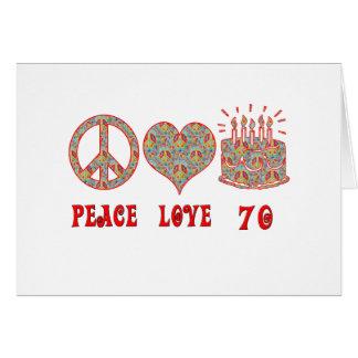 Peace Love 70 Card