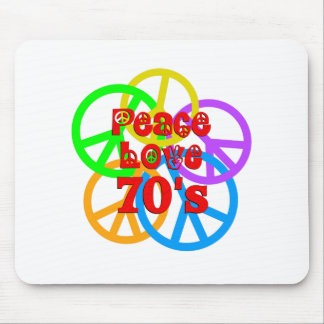 Peace Love 70s Mouse Pad