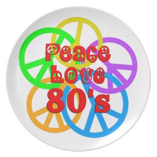 Peace Love 80s Plate