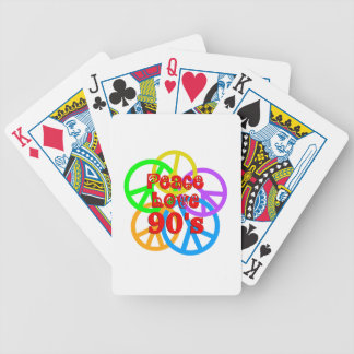 Peace Love 90s Poker Deck