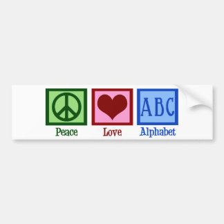 Peace Love ABC's Bumper Sticker