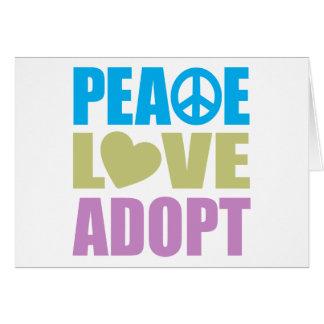 Peace Love Adopt Card