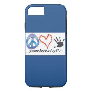 Peace. Love. Adoption. iPhone 7 Case