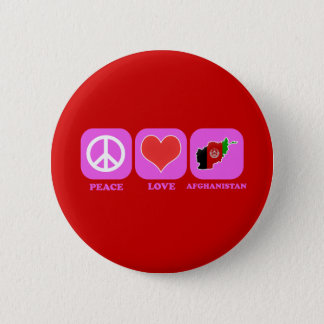 Peace Love Afghanistan 2 Inch Round Button