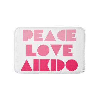 PEACE LOVE AIKIDO BATH MAT
