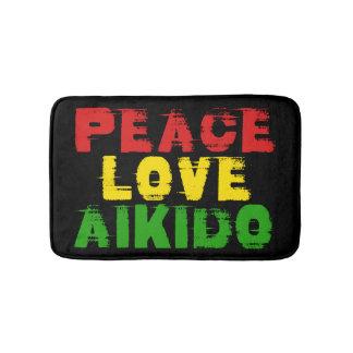 PEACE LOVE AIKIDO BATHROOM MAT