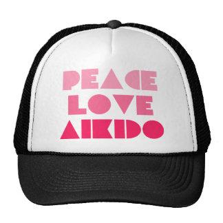 PEACE LOVE AIKIDO TRUCKER HAT