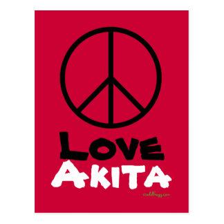 Peace Love Akita Postcard