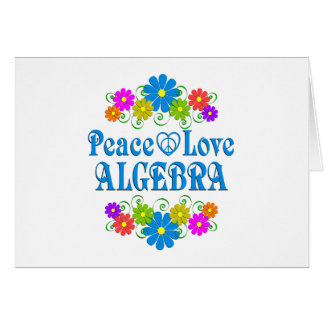 Peace Love Algebra Card