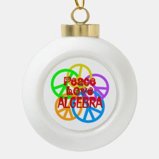 Peace Love Algebra Ceramic Ball Ornament