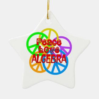 Peace Love Algebra Ceramic Star Ornament