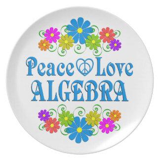 Peace Love Algebra Plate