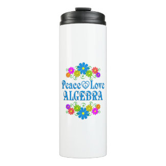 Peace Love Algebra Thermal Tumbler