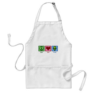 Peace Love Aliens Standard Apron