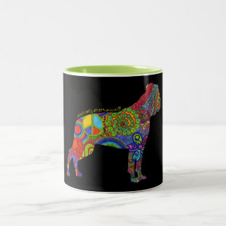 """Peace Love & American Bulldogs"" Pop Art Mug"
