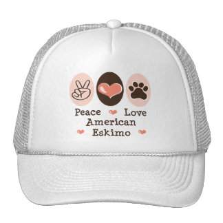 Peace Love American Eskimo Hat