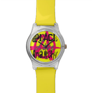 Peace Love Anarchy: Fashion Style Punk Wristwatch