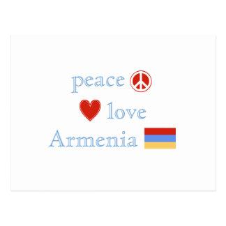 Peace Love and Armenia Postcard