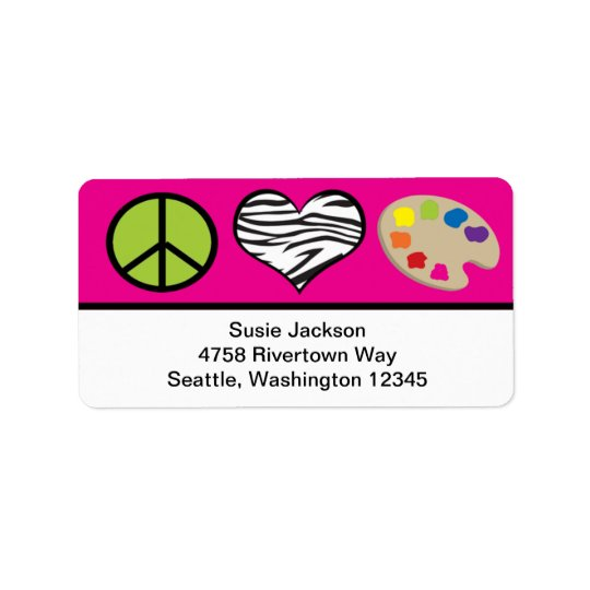 Peace Love and Art Label