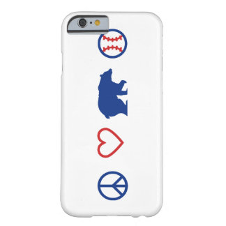 Peace, love, and Chicago baseball Barely There iPhone 6 Case