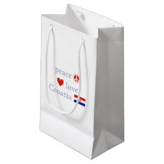 Peace Love and Croatia Small Gift Bag