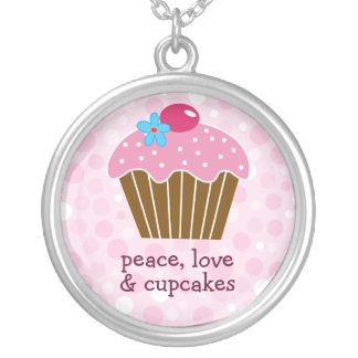 Peace, Love and Cupcakes Necklace