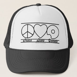 Peace Love and Donuts Trucker Hat