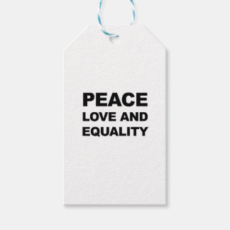 PEACE, LOVE AND EQUALITY GIFT TAGS