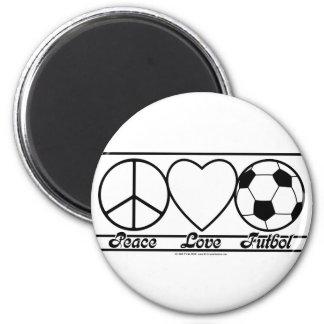 Peace Love and Futbol Magnet