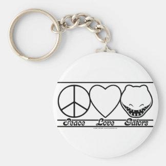Peace Love and Gators Keychain