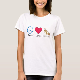Peace Love and Happiness 3 T-Shirt