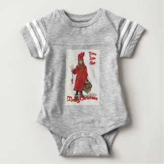 Peace, Love and Hope at Christmas Baby Bodysuit