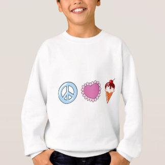 Peace Love and Ice Cream Sweatshirt
