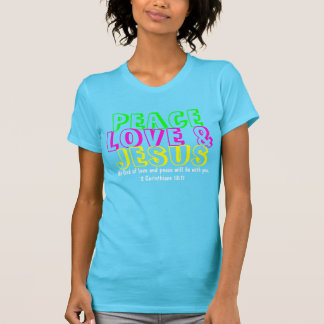 Peace love and Jesus bible verse t-shirt