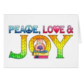 Peace, Love and Joy Birthday Card