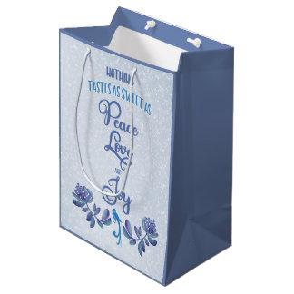 Peace Love and Joy Christmas Medium Gift Bag
