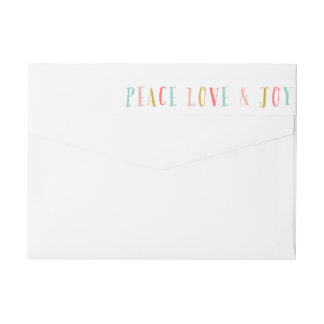 Peace Love and Joy Holiday Return Address Labels