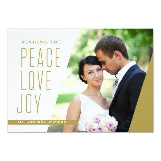 Peace Love and Joy on an Angle Card