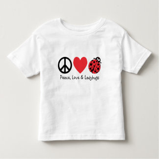 Peace, Love and Ladybugs Toddler T-shirt