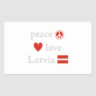 Peace Love and Latvia Sticker